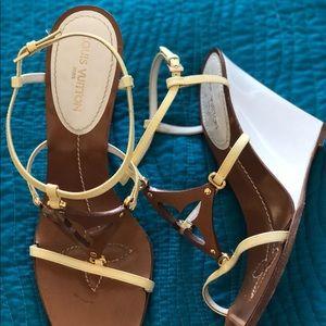 956320182df2 Louis Vuitton Shoes - Louis Vuitton capricieuse wedge sandals sz. 81 2